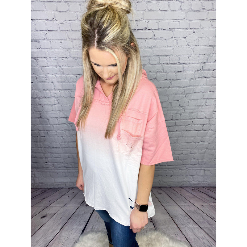 Coral Dip Dye Distressed Pullover-[option4]-Trendy-Womens-Clothing-Store-Shop-The Beauty Alley Boutique Inc