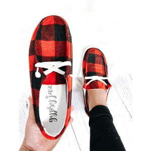 Red Plaid Very G Shoes