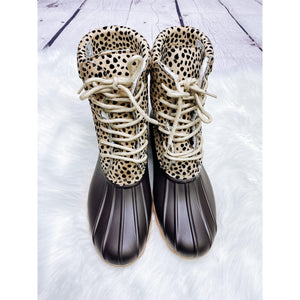 Cheetah Duck Boots
