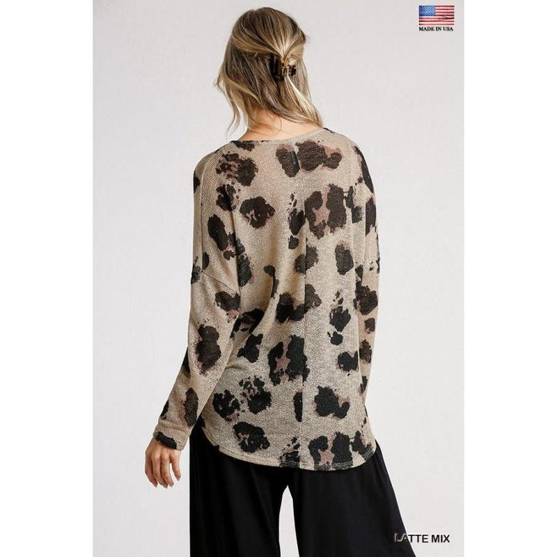 Animal Print High Low Top