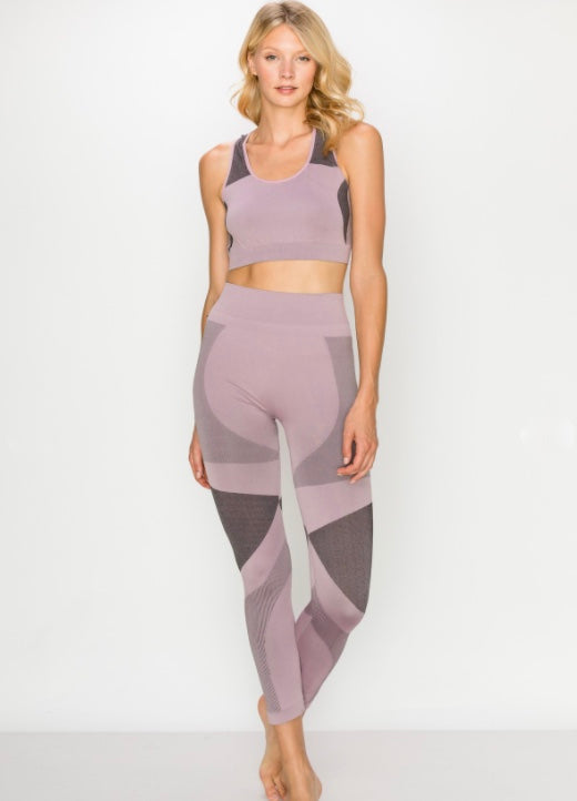 Seamless PANT - Dusty Purple - Axcess Athletics