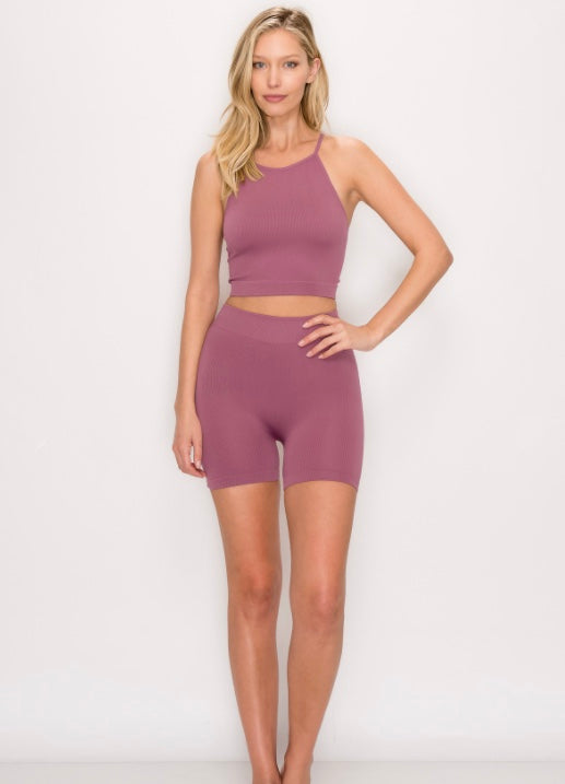 Ribbed & Seamless Set - Lavender - Axcess Athletics