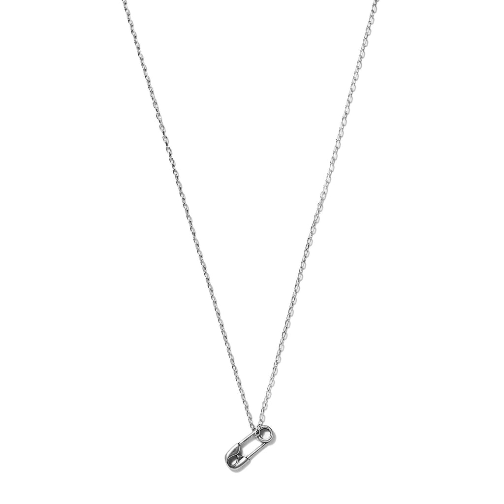 Tiny Safety Pin Necklace
