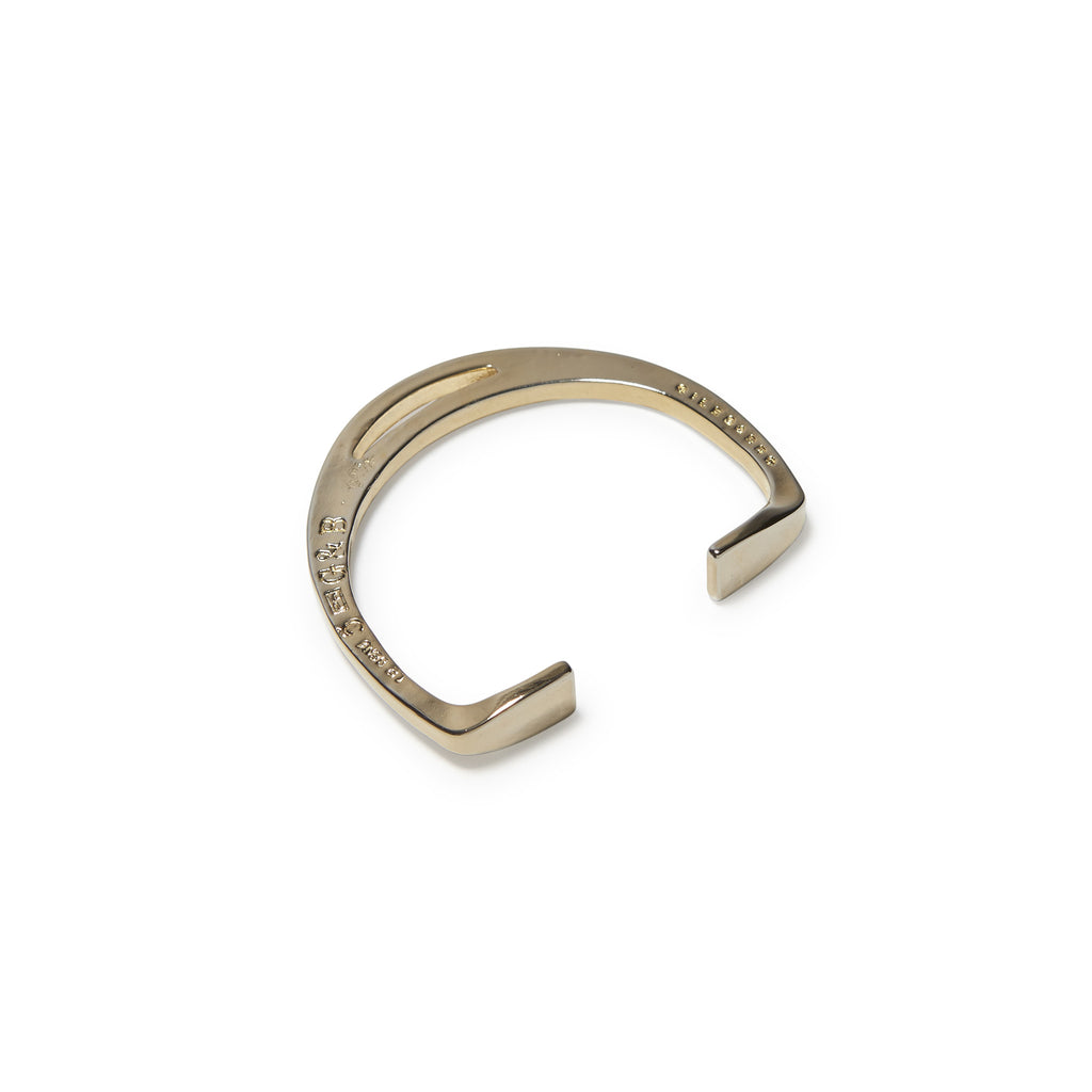 Polished Gold Stirrup Cuff