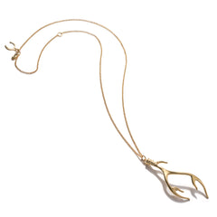 Large Antler Necklace in Gold