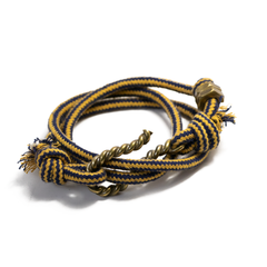 Twisted Hook Mulit Check Rope Wrap Cuff