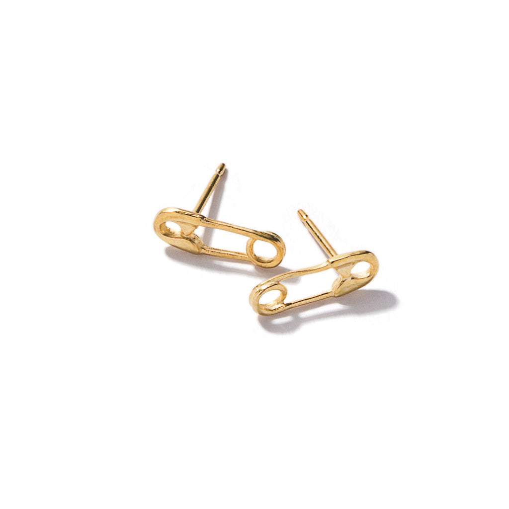 Tiny Safety Pin Earrings