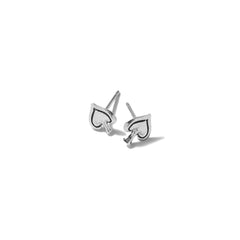 Tiny Spade Earrings