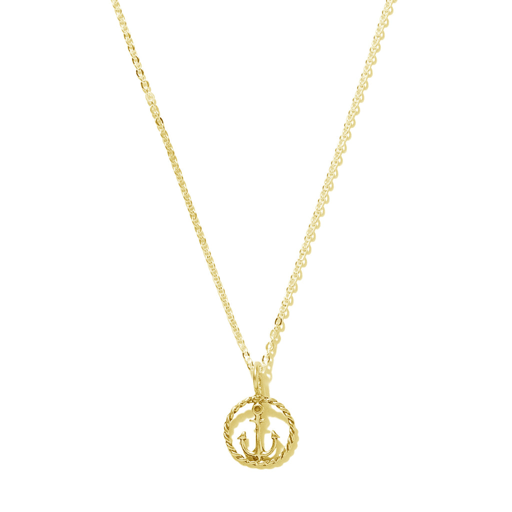 Tiny Rope Anchor Necklace