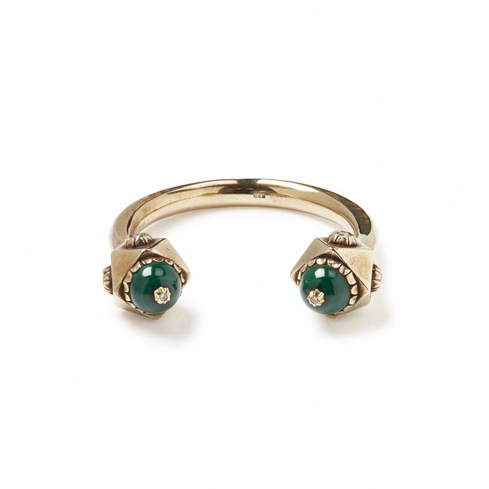 GILES & BROTHER HIGH<br><b>SNAKEHEAD CUFF WITH MALACHITE EYES</b>