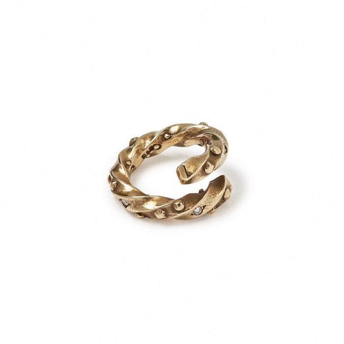 GILES & BROTHER HIGH <br><b>STUD TWISTED TWIST RING</b>