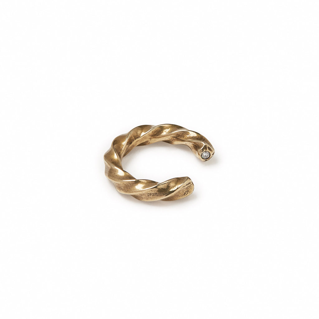 GILES & BROTHER HIGH<br><b>2 STONE TWIST RING</b>