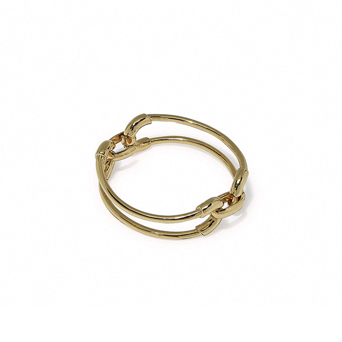 Gold Cortina Double Link Cuff