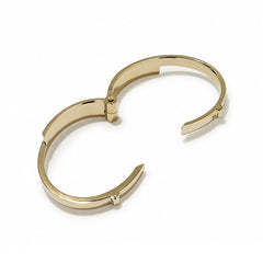 Wide Latch Cuff Gold Polished