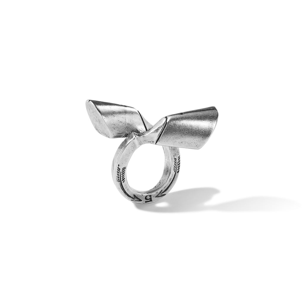 Pied-de-Biche Double Hoof Ring in Sterling Silver