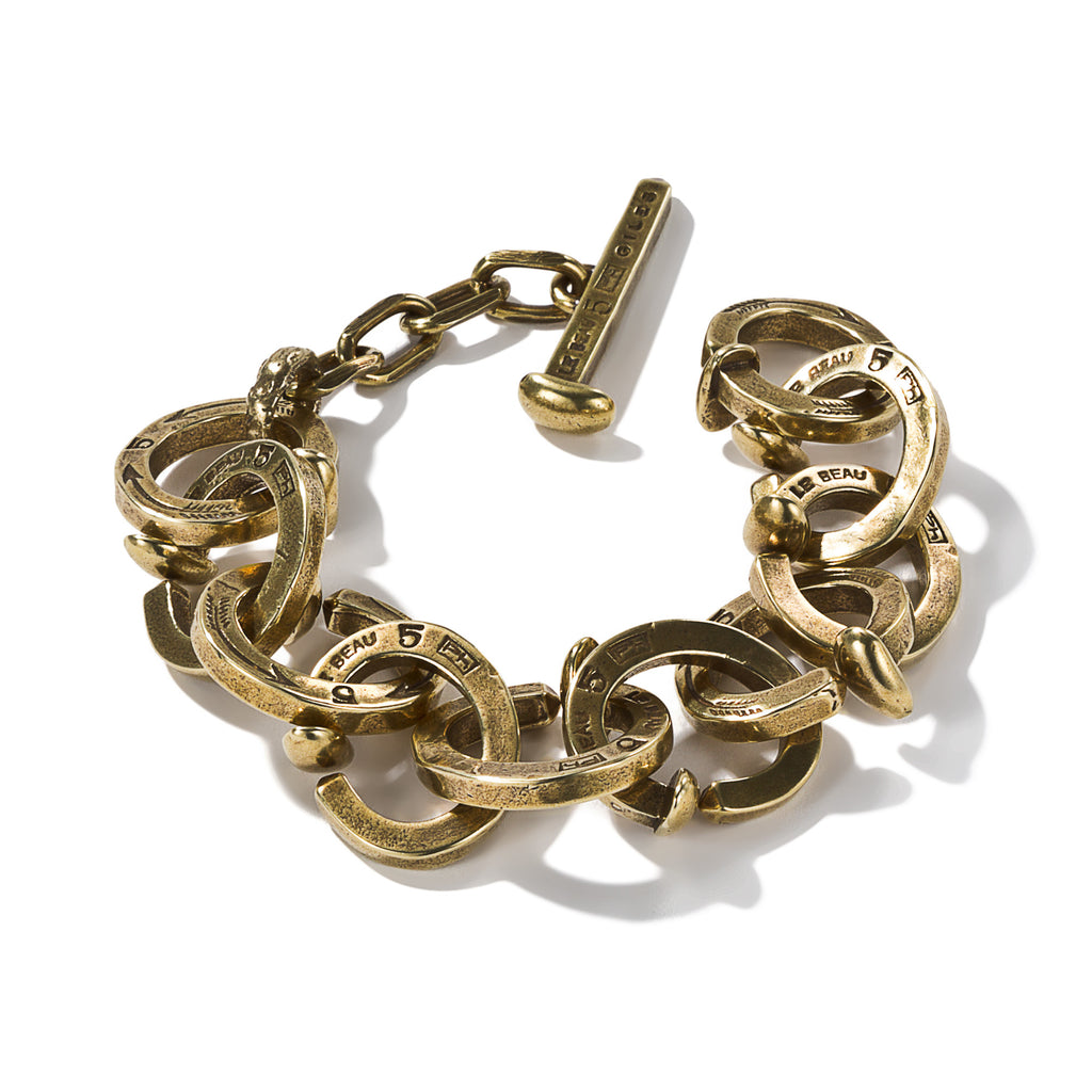 Railroad Spike Link Bracelet