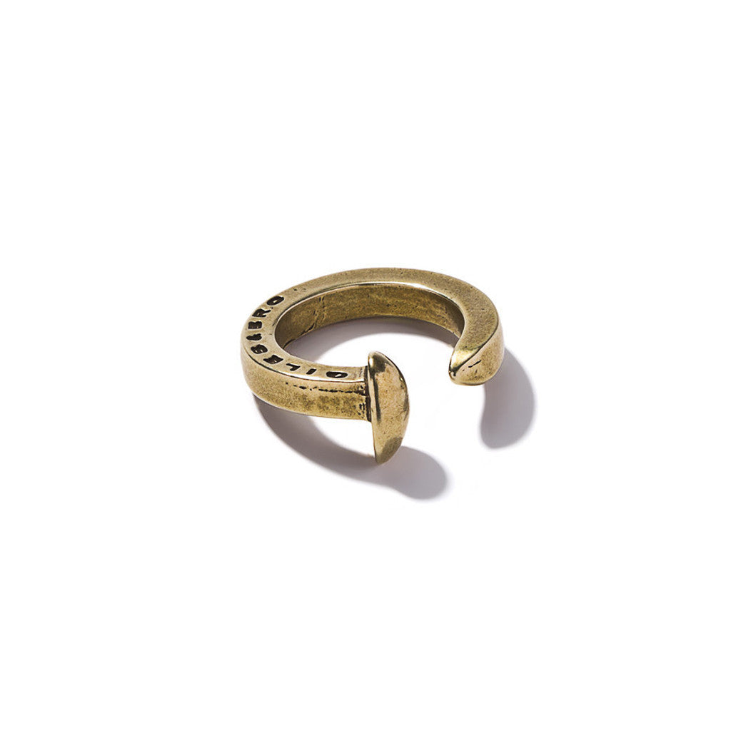 Railroad Spike Ring Brass