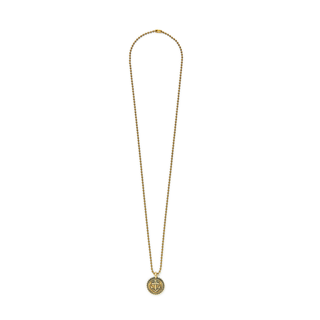 Anchor Charm Ball Chain Necklace