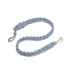 Braided Stripe Rope Belt with Silver Oxide Hook