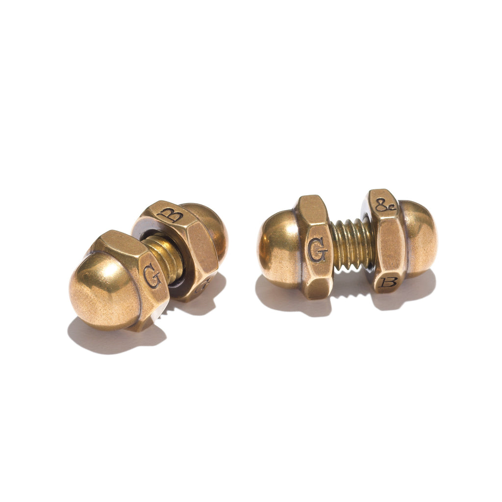 Acorn Nut Cufflinks Brass