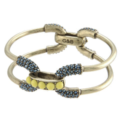 Encrusted Double-Cortina Bracelet