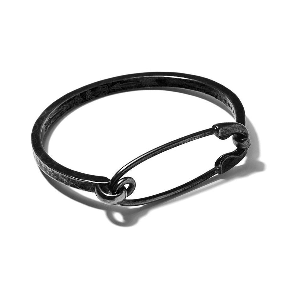 Safety Pin ID Cuff Hematite