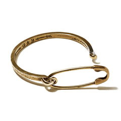 Safety Pin ID Cuff Brass