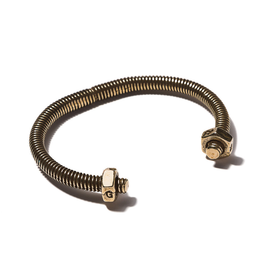 Skinny Double Nut Cuff Brass