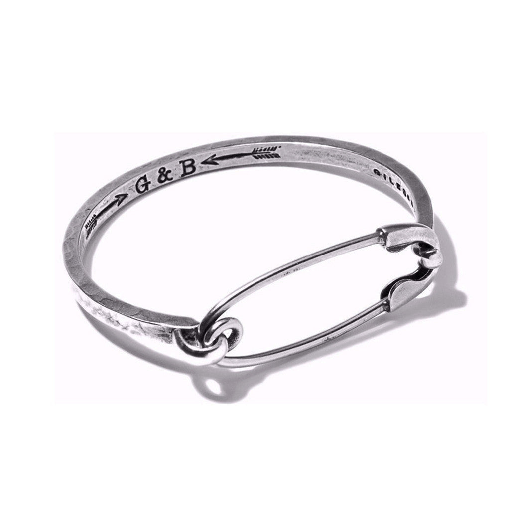 Safety Pin ID Cuff Silver