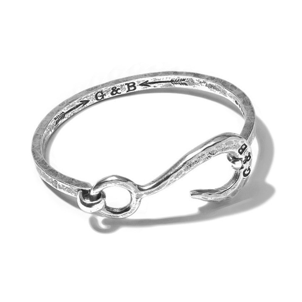 Hook with Hinge Cuff Silver