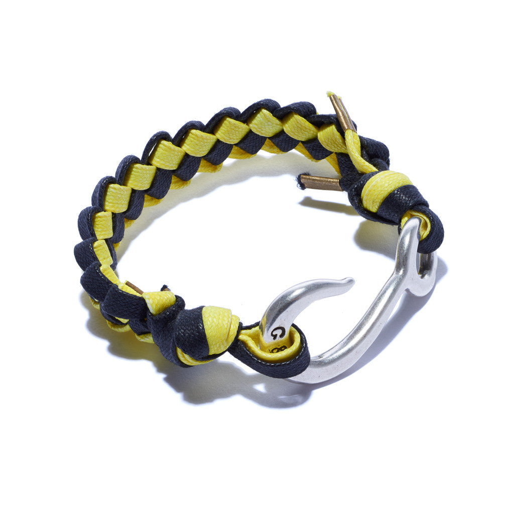 Braided Hook Bracelet Yellow & Black