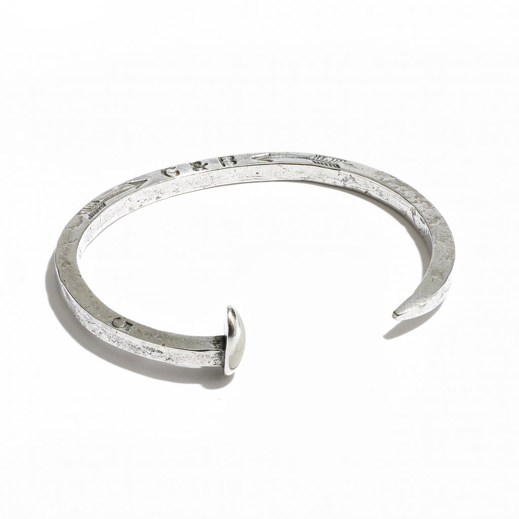 Skinny Railroad Spike Cuff Sterling Silver