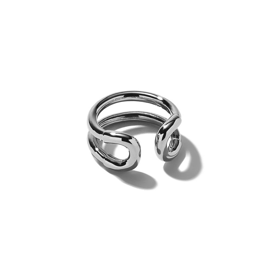 Mini Cortina Ring Silver Finished