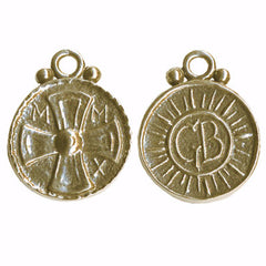 Coptic Cross Coin Pendant