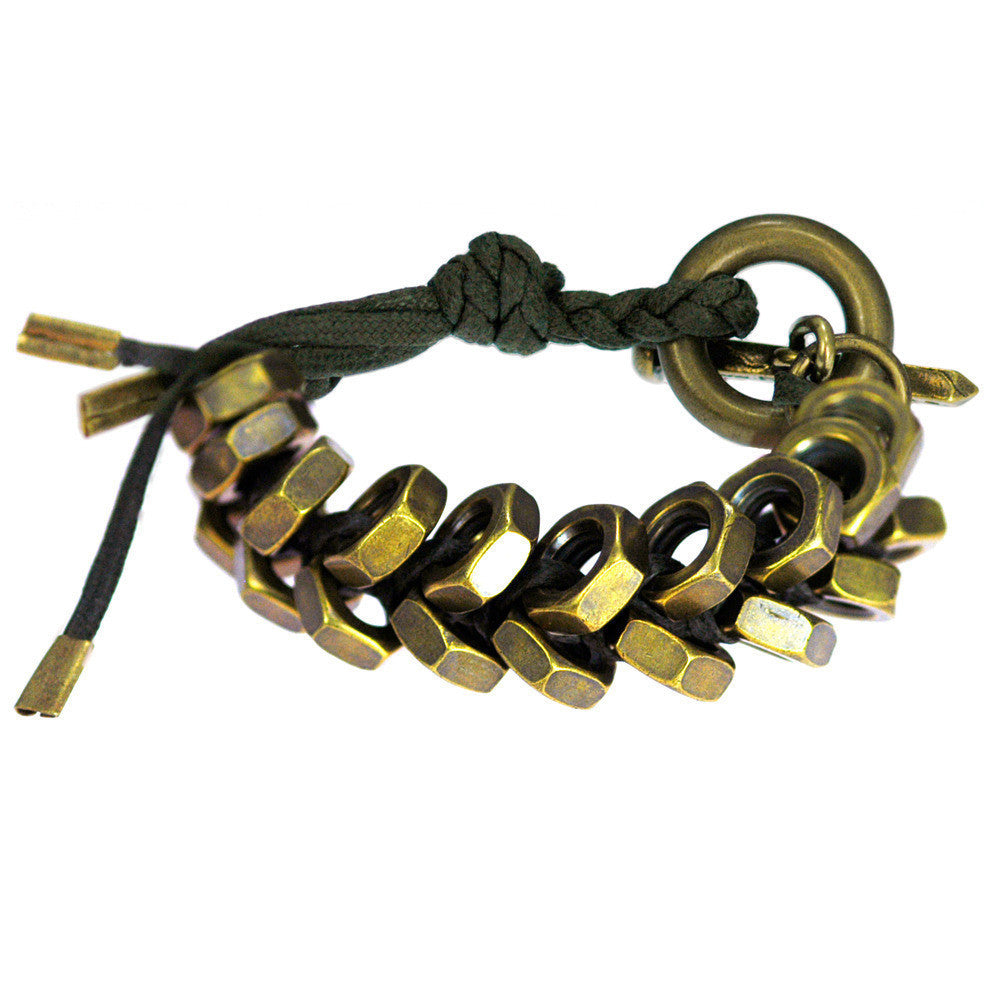 Braided Heavy Hex Bracelet with Toggle