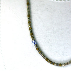 Vintage Silver Heshi Bead and Tiny Nut Necklace