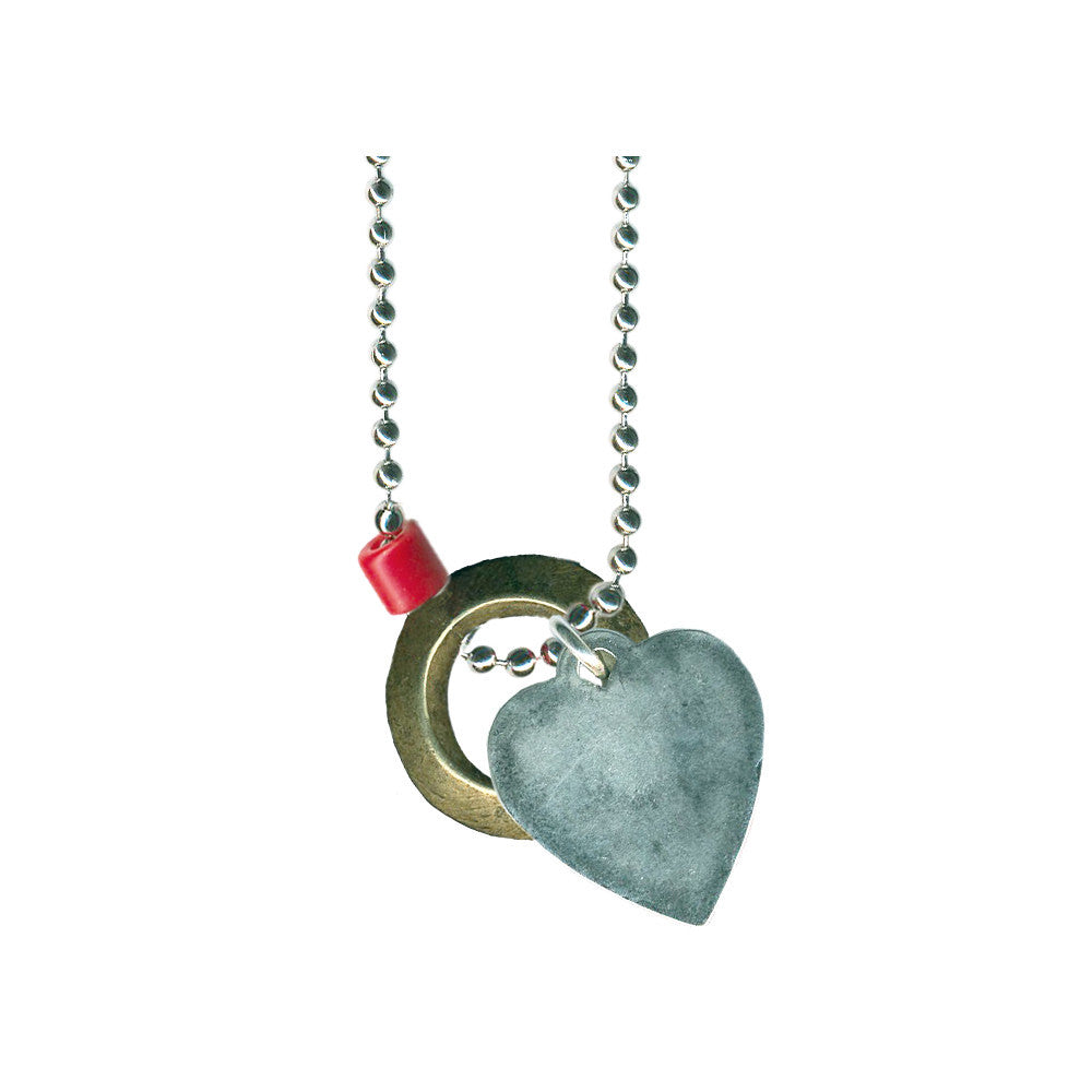 Heart and Ring Necklace