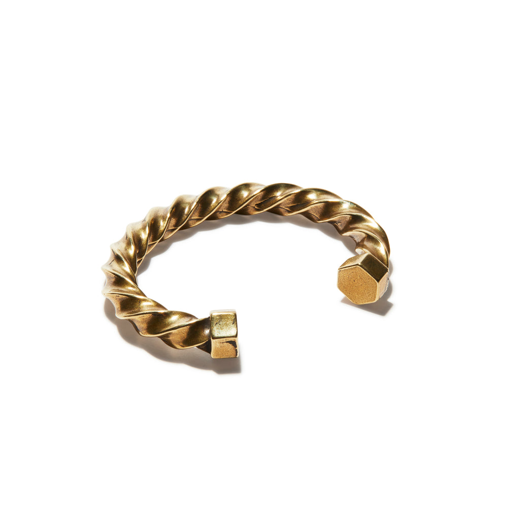 Antique Brass Twist Cuff