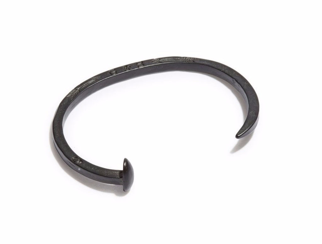 Skinny Military Black Railroad Spike Cuff