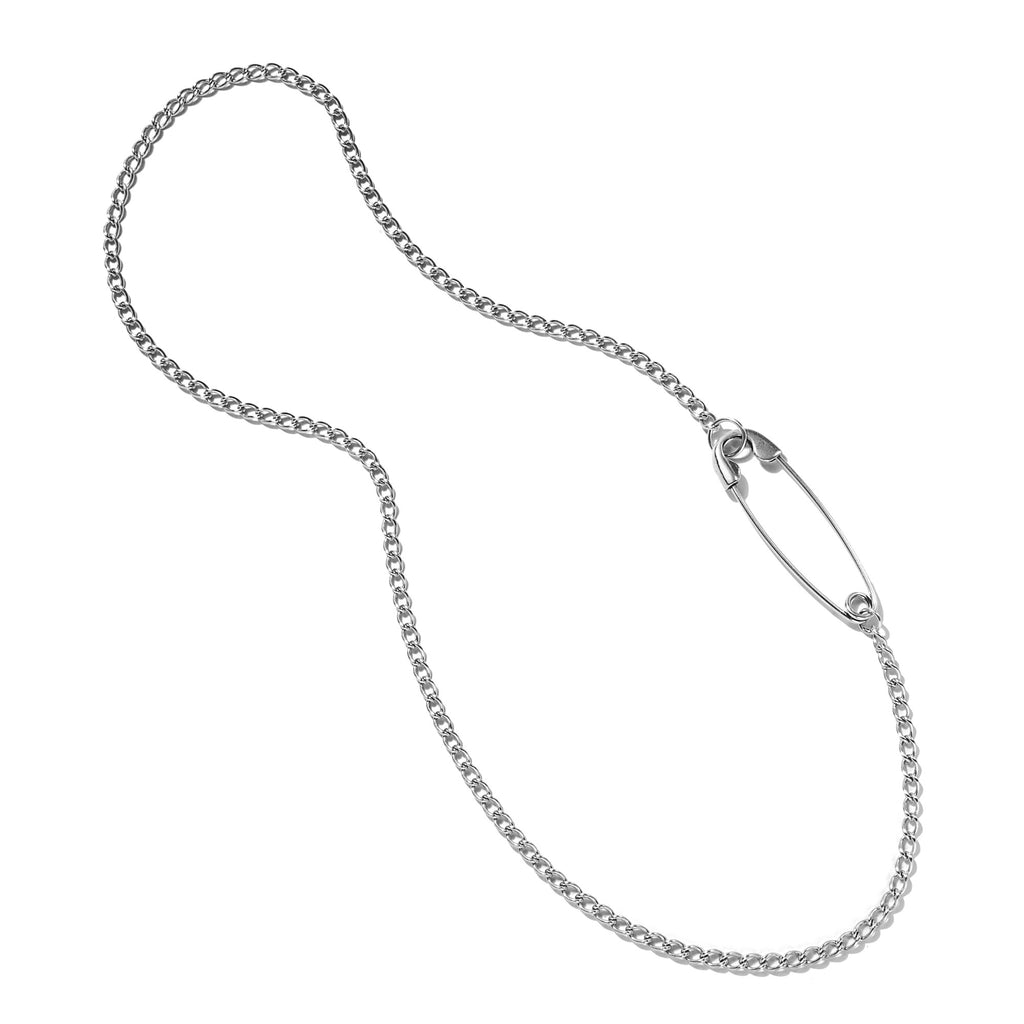 Embedded Safety Pin Necklace