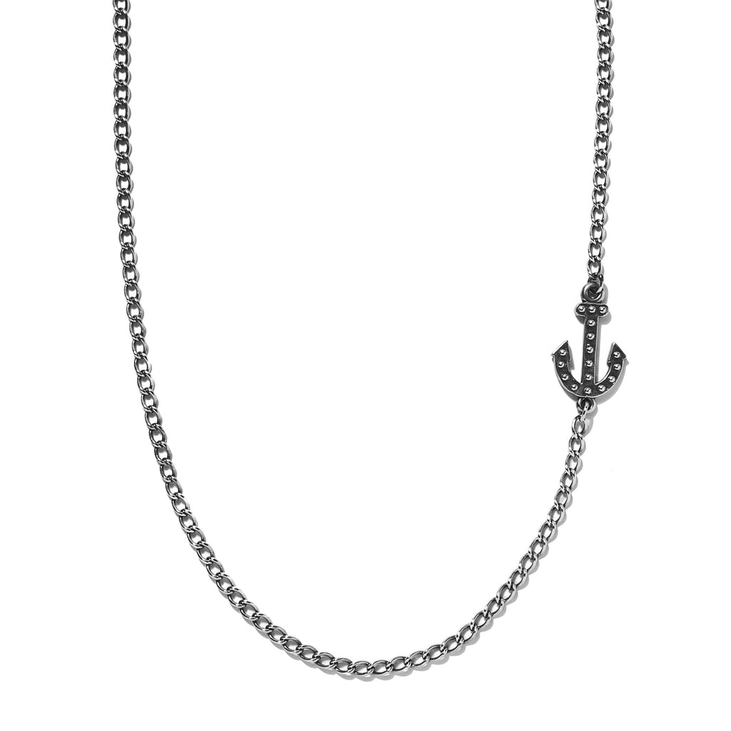 Embedded Anchor Necklace