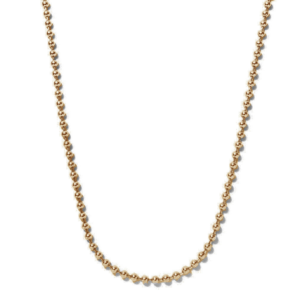 Brass Ball Chain Necklace