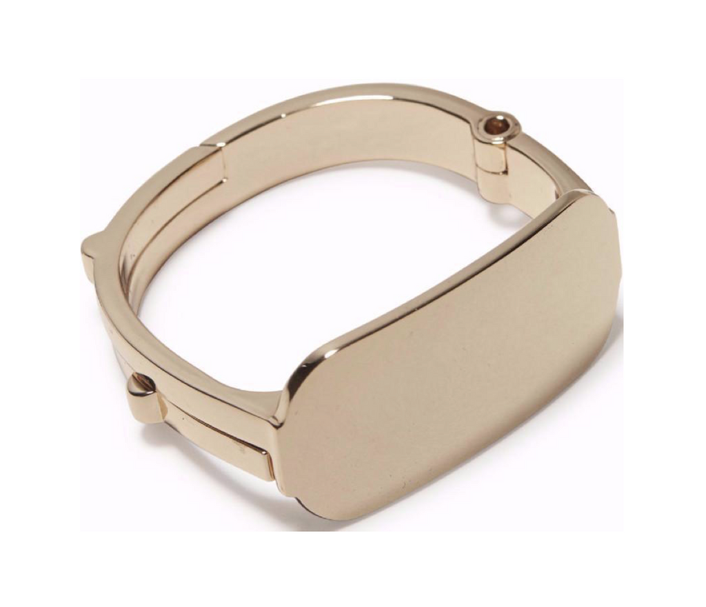 Gold Polished Latch Cuff ID Top