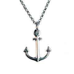 Small Sterling Silver Anchor Necklace