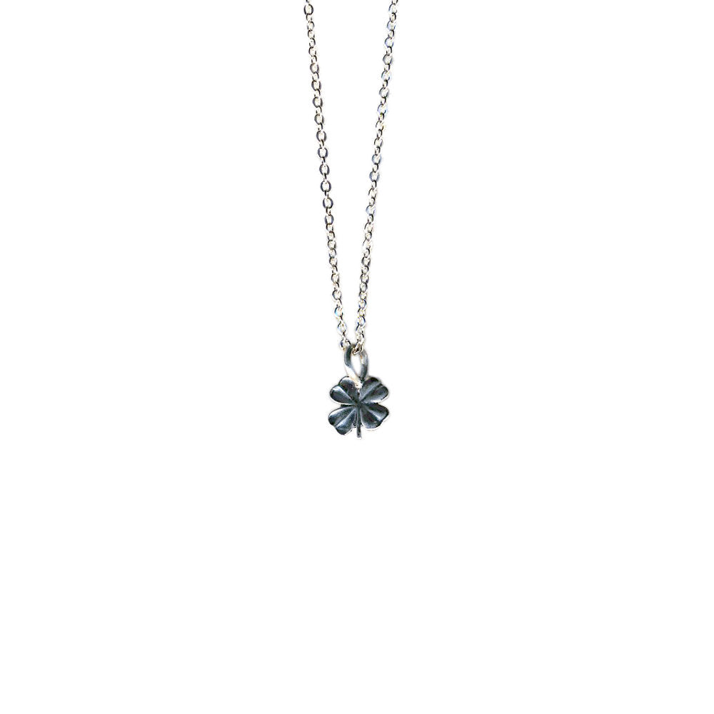 Tiny Four Leaf Clover Necklace