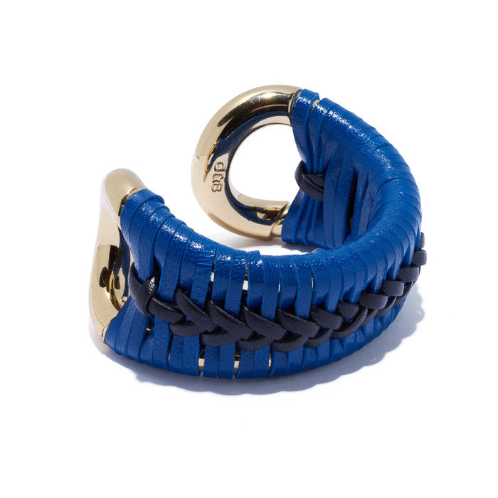 Original Cortina Cuff w/Black and Blue Leather