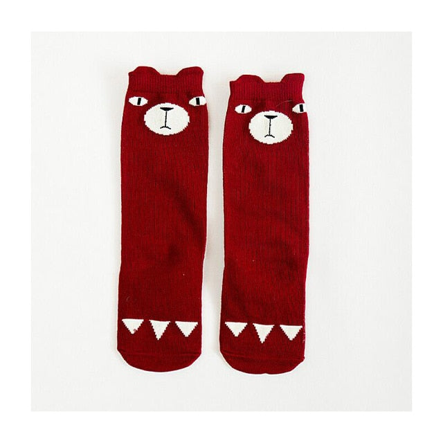 Test Copy of 2018 Cartoon Cute Kids Socks Bear Animal Baby Cotton Socks Knee High Long LegWarmers Cute Socks Boy Girl Children socks 0-6 Y