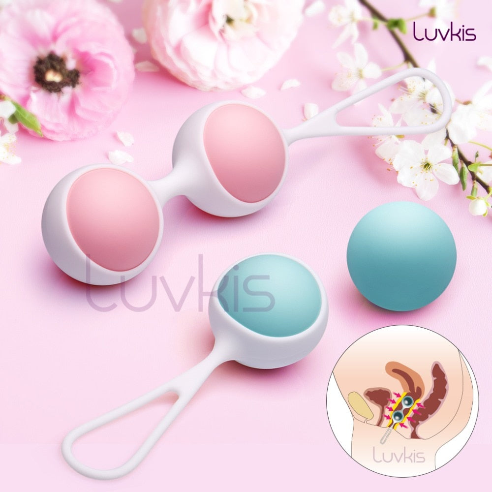 Luvkis 30g-80g 5 Exercise Modes Kegel Balls Tighten Exercise Machine Medical Silicone Anus or Vagina Balls Sex Toys for Women