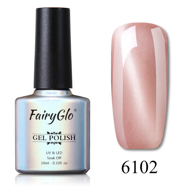 FairyGlo 10ml Cat Eye UV LED Lamp Nail Gel Soak Off Semi Permanent Gel Nail Polish Paint Gellak Stamping Enamel Gel Varnish Ink -1