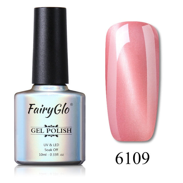 FairyGlo 10ml Cat Eye UV LED Lamp Nail Gel Soak Off Semi Permanent Gel Nail Polish Paint Gellak Stamping Enamel Gel Varnish Ink